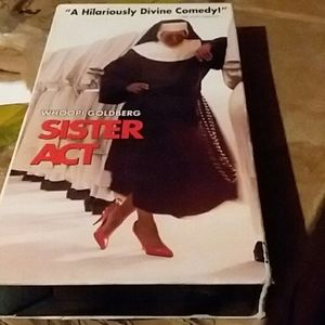VCR Tape Sister Act Movie